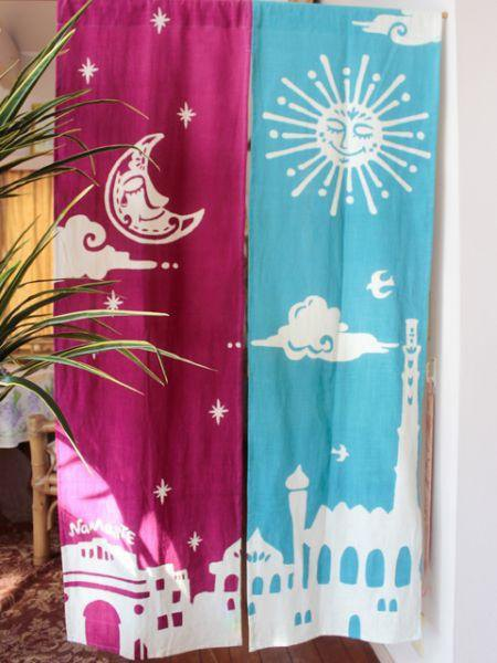 Bi-color Namaste NOREN Door Curtain