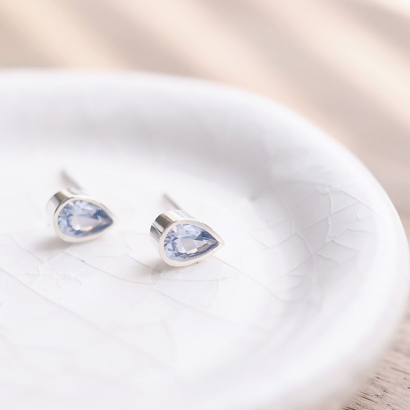 Aquamarine Drop Earrings 925 Silver