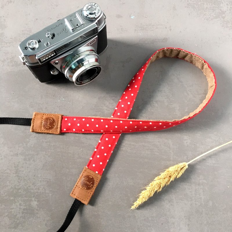 Red Polkadot Mirrorless camera Strap