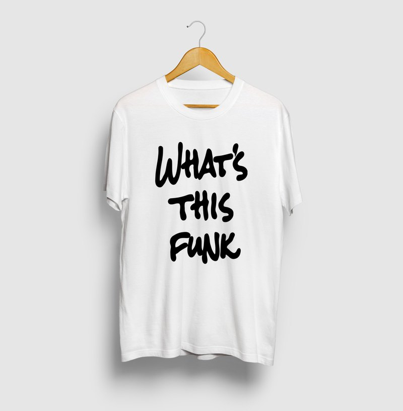 WHATS THIS FUNK Graphic Art Logo T-shirt