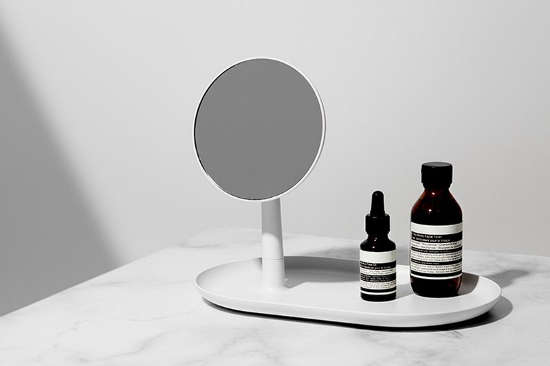 STAND MIRROR TRAY / WHITE