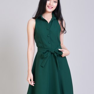 Working Dress Party Dress Forest Green Dress Beautiful Semi Formal Dress Sundres