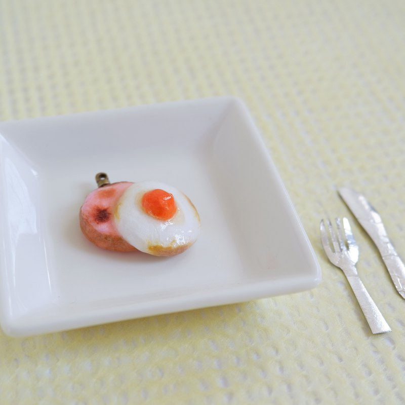 Japanese paper accessory with choice of usage Ham Egg No.1 Orange