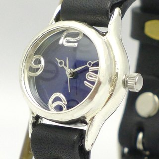 "Hand made watch HandCraftWatch ""Lady on Time-S"" color dial BL / BK Lady's Silver [305BSV BL / BK]"
