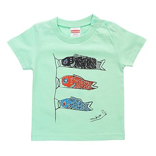 Koinobori Baby KIds T-shirt RightBlue
