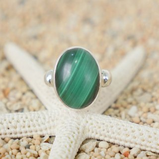 Malachite's silver ring