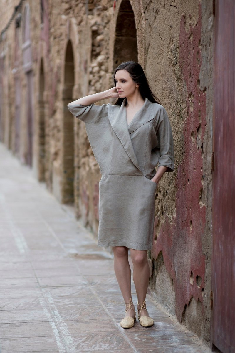 Linen Dress Motumo 16S13