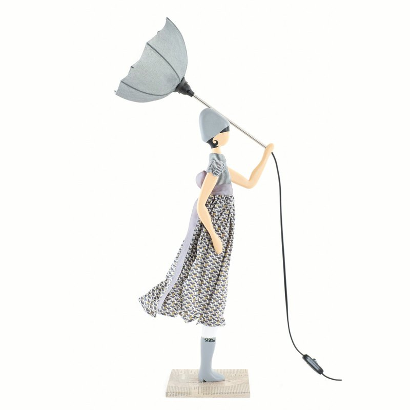 Wind Little Girl Fashionable Lamp Francis Order Production Handmade