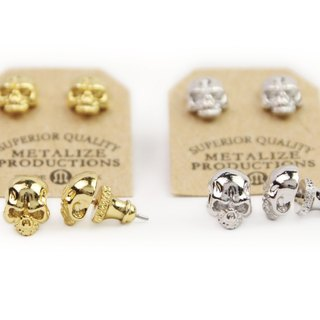 【METALIZE】F.T.W Skull Earrings F.T.W骷髅耳环