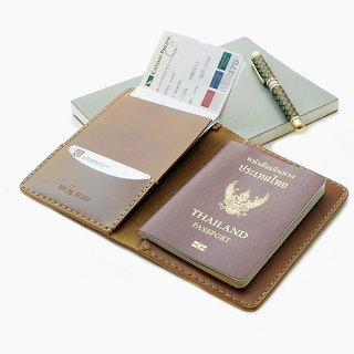 Leather Hand-Stitching Passport Holder and Case for International Travel