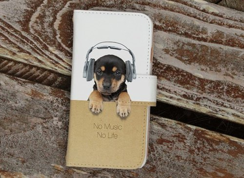 [All models corresponding Free Shipping ☆ [notebook type] Datte puppies No Music No Life Sumahokesu