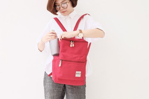 BUCKET BEAM BAG : RED COLOR