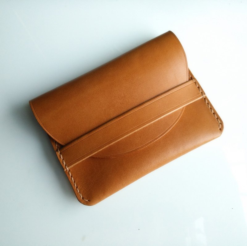 Handmade leather card case / coin pouch / earphone case