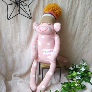 socks  monkey /baby pink