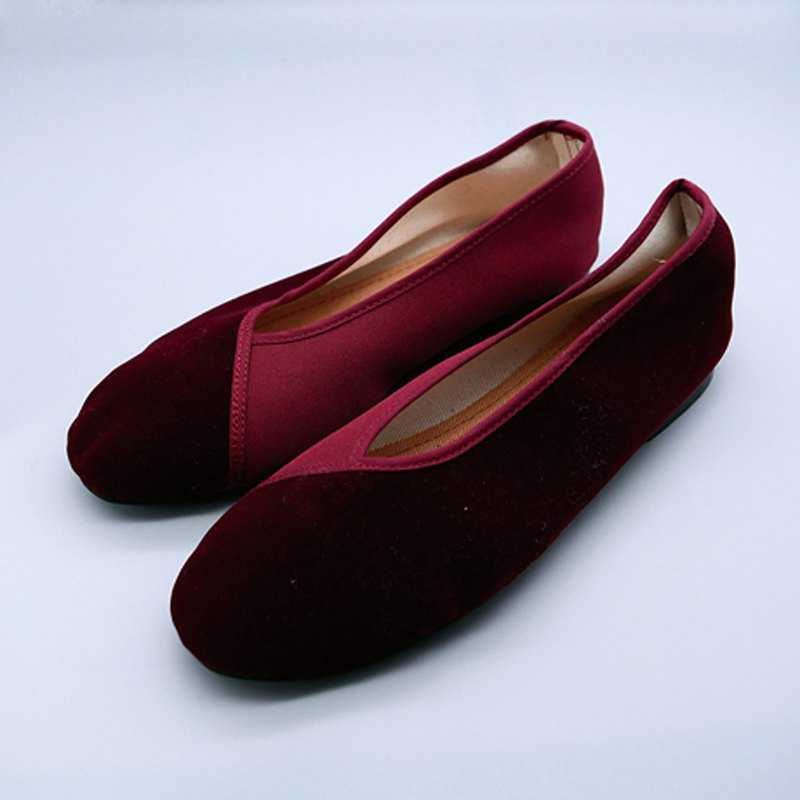 Velvet shoes / Red