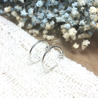 MIH金工首饰 | 简约圈圈 纯银耳环 Minimalist Loop sterling silver earrings