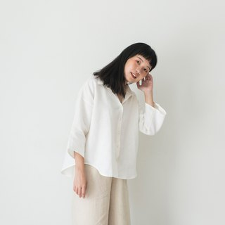 Off-white Linen Oversized Shirt