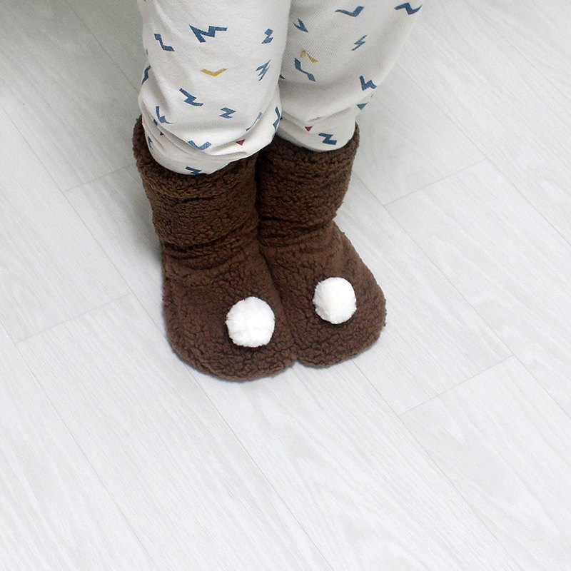 baby white pompom  wool warm winter socks