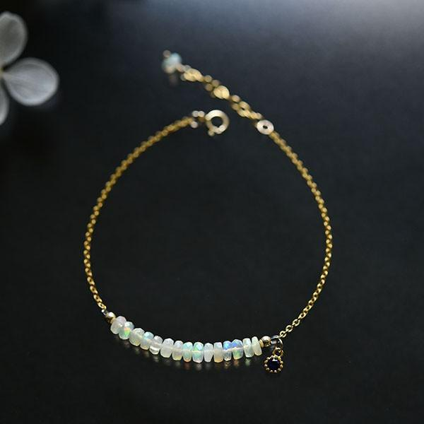 Wish wishes Fairy stone Water opal bracelet October birthstone 14kgf version