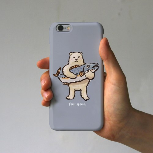 Gift from the iPhone case polar bear (gray)