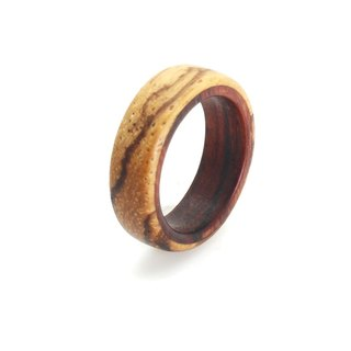 Layers Zebra with Rosewood rings
