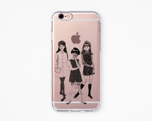 iPhone Rubber Case - Girls for iPhones - Clear Flexible Rubber Silicone case