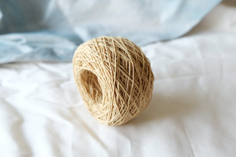 Honey mustard natural dyed cotton yarn for DIY