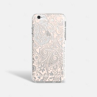Gray Lace iPhone 7 Case Clear iPhone 8 Case Clear iPhone 7 Plus Case iPhone 6S