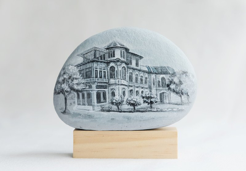 Landscape on Stone painting.Made to order.