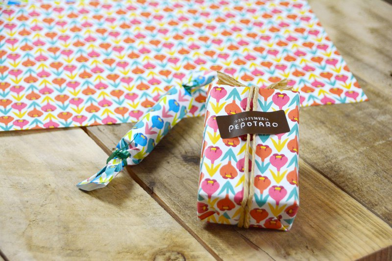 Mini wrapping paper crocus pink blue