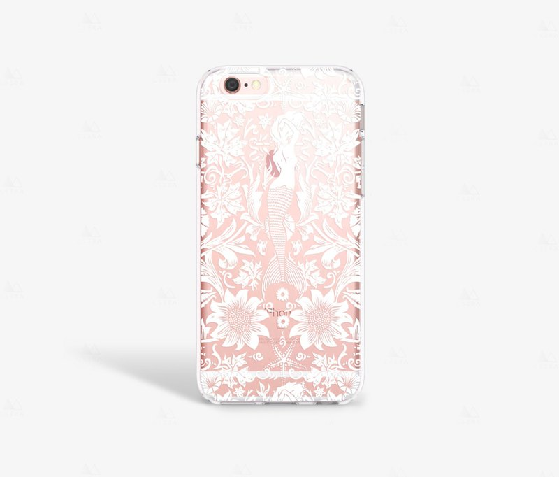 Mermaid iPhone 7 Case Clear iPhone 8 Case Clear iPhone 7 Plus Case iPhone 6S
