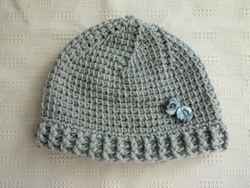 yuoworks / light knit cap with button (gray)
