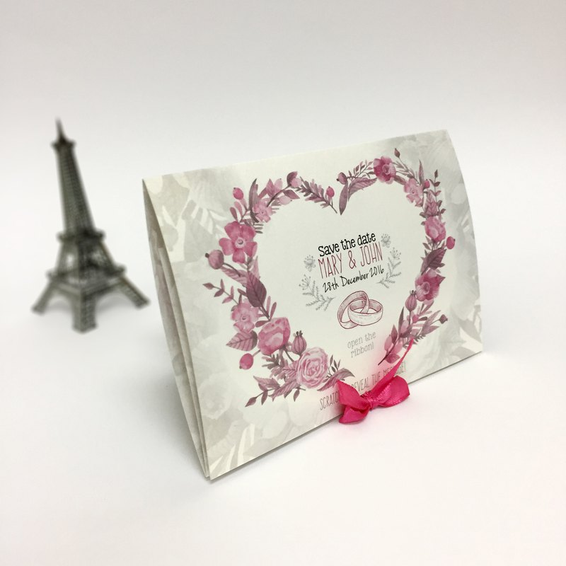 Wedding Invite Card | Scratch Off Invite | Wedding Pop Up Card | Wedding Card