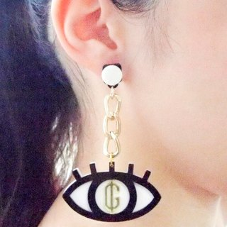 Greed Eyes S Chain Earring
