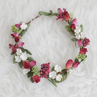 Red Berry Handmade Floral Crown