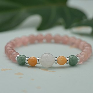 【Woody'sHandmade】相爱吧。三色水晶手串Let's fall in Love,Three-color crystal bracelet