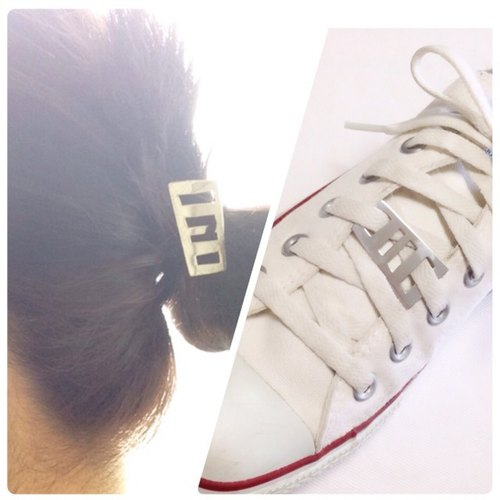[Orders] production Heaakuse shoes access, 4-way plate / Silver Border Design / Unisex