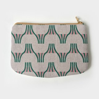 Geometric Minimal Small Zip Pouch Purse Coin Wallet