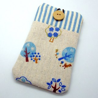 iPhone sleeve, Samsung Galaxy S8, Galaxy Note 8 pouch cover 自家制手提电话包, 手机布袋,布套 ,(可量身订制) - 小树苗 (P-22)