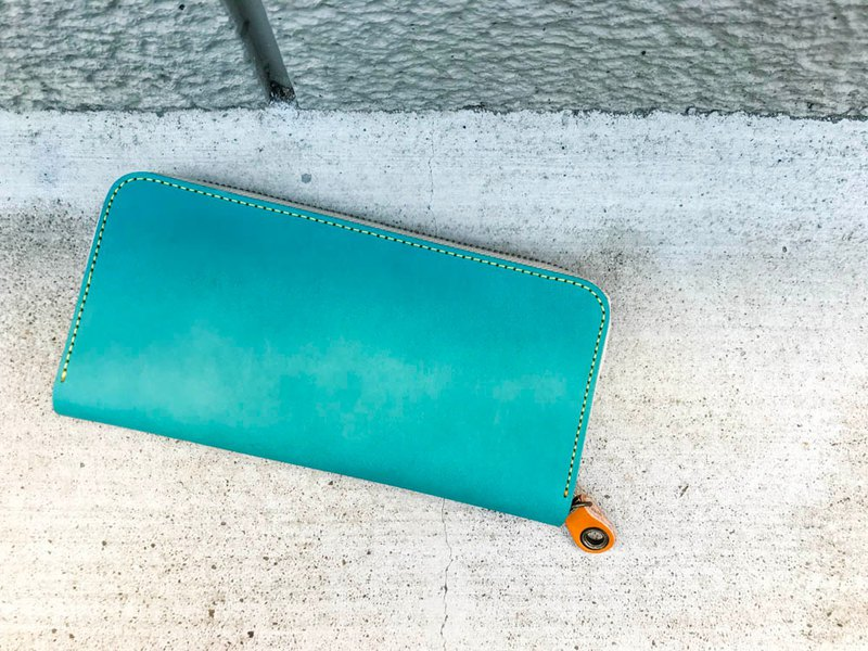ROUND adult cute turquoise blue round zip wallet RZW-TWYN-WWC-Y