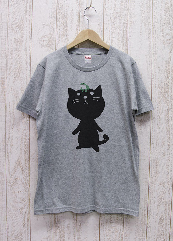 Knee Ten Zero Nyan Tee frog (Heather Gray) / RIT 006 - GR