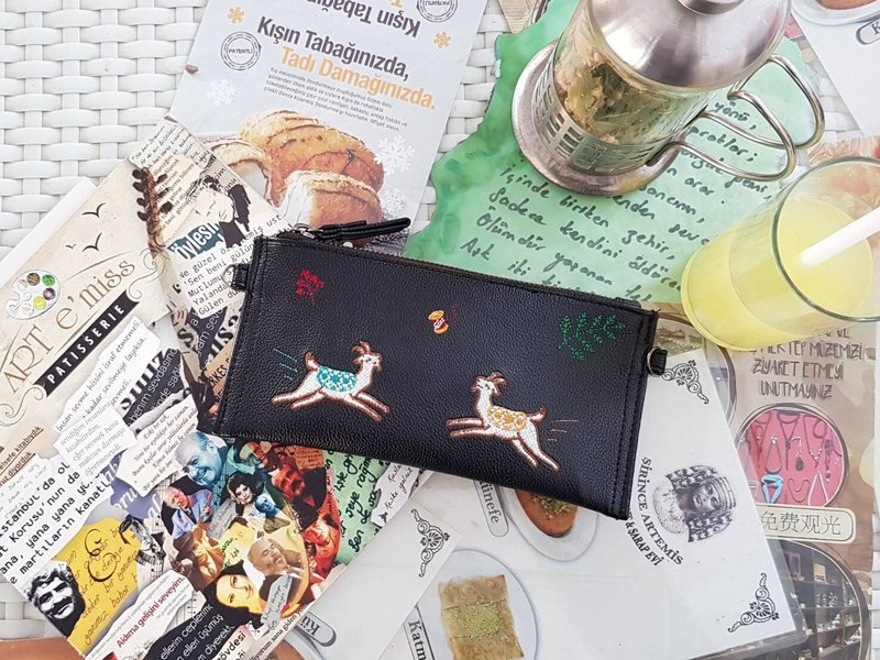 Goat Long Wallet (black)