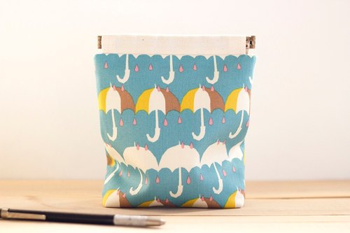 Charger case, Cosmetic pouch, Ditty bag, Make-up Case, Travel pouch / Umbrella parasol blue