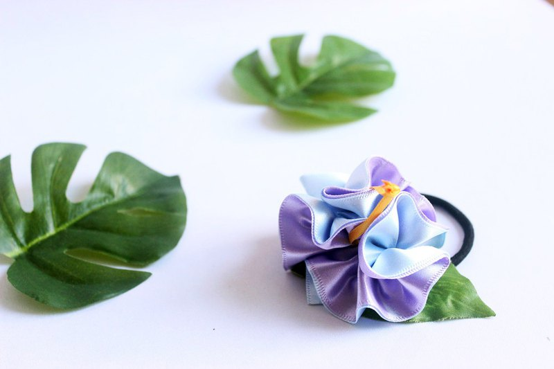 3ways hibiscus accessory,Ponytail Holder(lp),hair bow,hair
