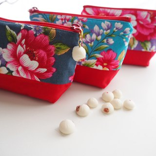 Taiwan Flower Cloth Pouch with Gunma Charm
