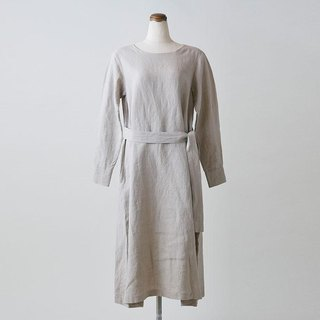 Enrica × Kagure linen one piece (natural)