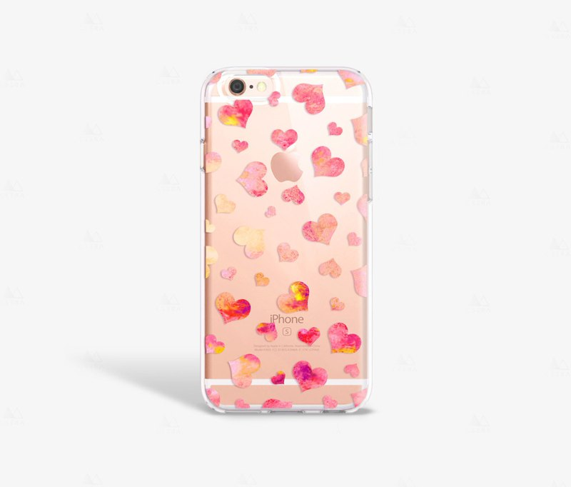 Hearts iPhone 7 Case Clear iPhone 8 Case Clear iPhone 7 Plus Case Clear iPhone 6