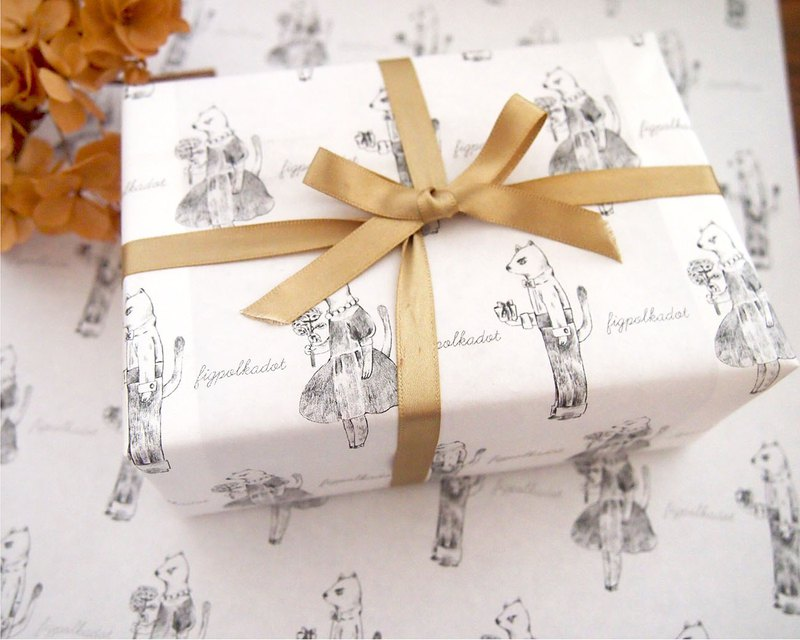 rapping Paper -  Gift from cats