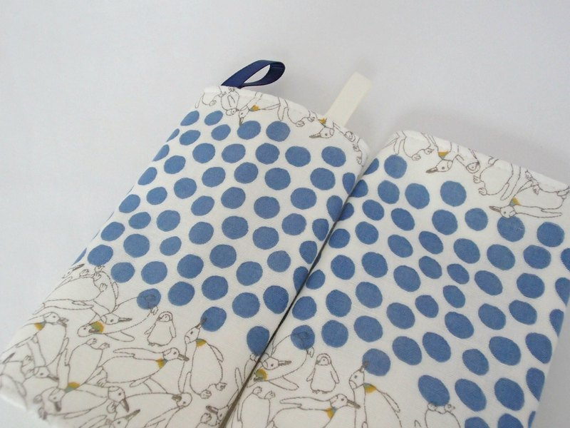 DROOL PADS, 口巾布, Ergo, Blue, Polka Dots, Penguin, Japanese Double Gauze Cotton