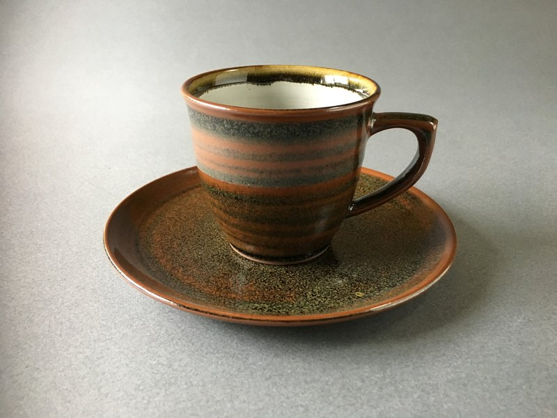 Tianmu glazed cup and saucer